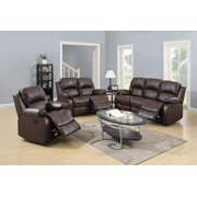 PonLiving Furniture Reclining Sofa Loveseat Chair Set Living Room SET Reclining Sofa Loveseat Chair Set Living Room SET