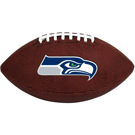 Seattle Seahawks Embroidered Football - Rawlings NFL Official Size Game Time Football, Seattle Seahawks