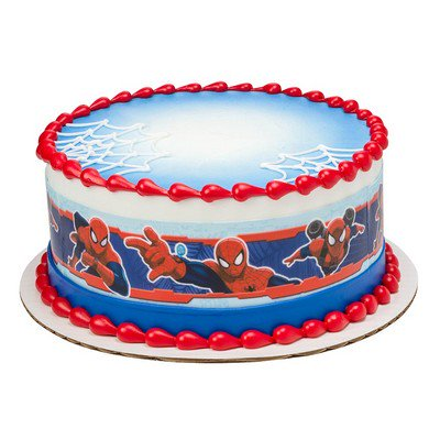 Spiderman Edible Photo Image Cake Border Decoration
