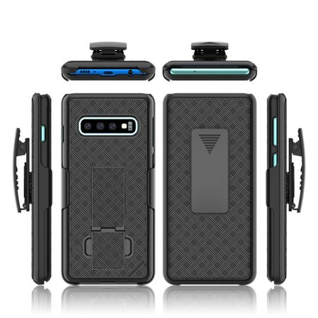 Samsung Galaxy S10+/Plus Case, Swivel Slim Belt Clip Holster Case, Defender Hard Cover for Samsung Galaxy S10+/S10 Plus - Black - image 2 of 4