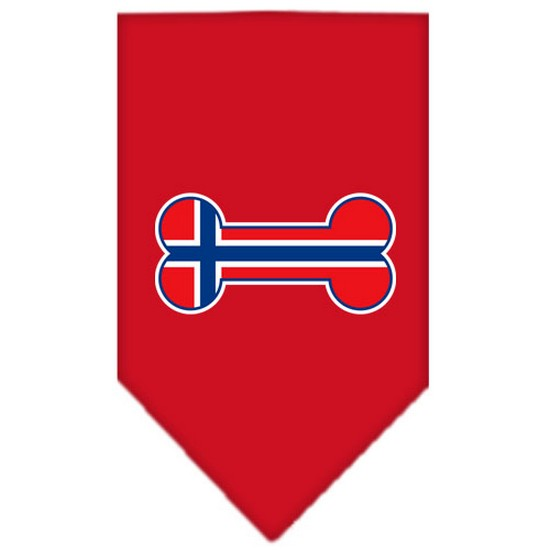 Bone Flag Norway  Screen Print Bandana Red Small