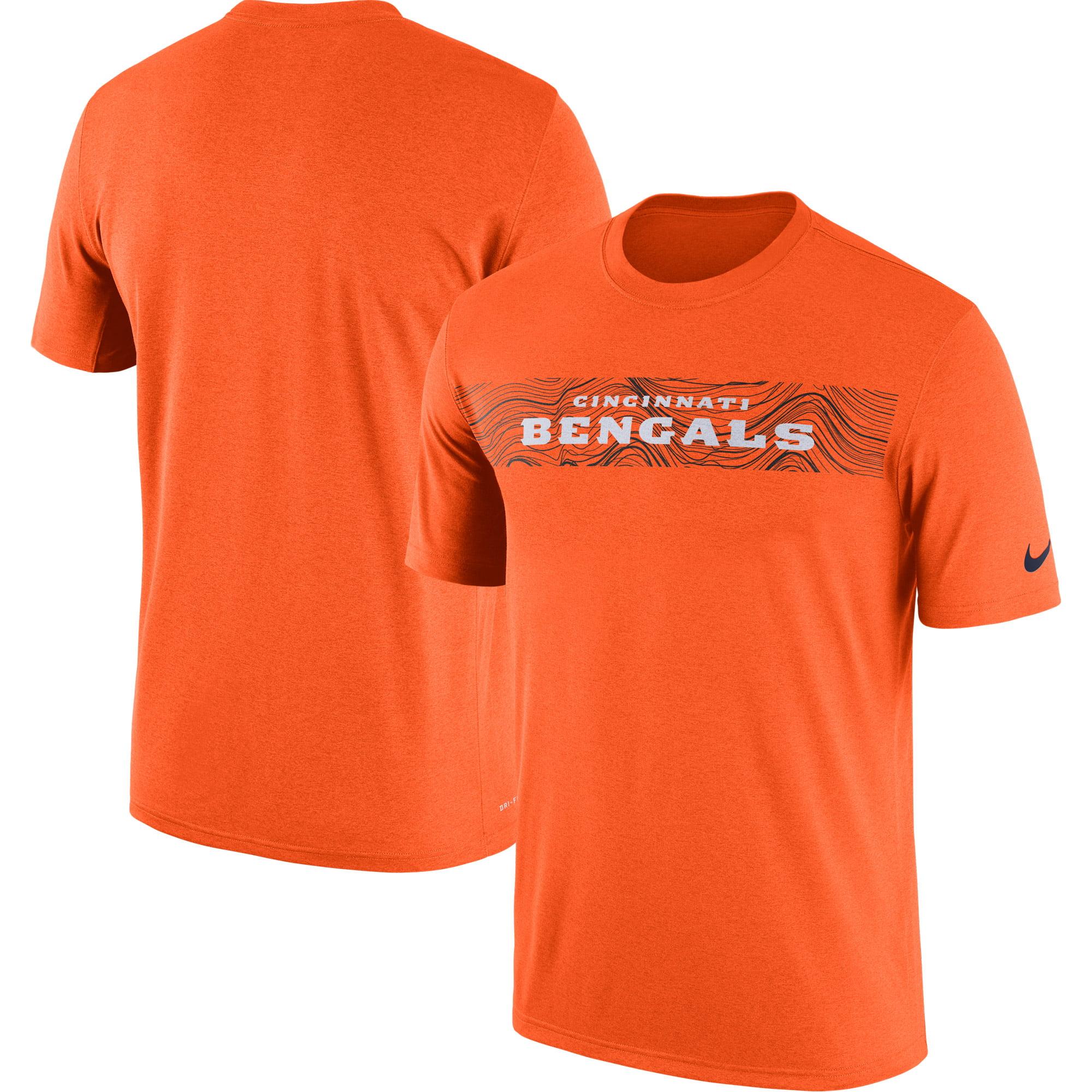 Cincinnati Bengals Nike Sideline Seismic Legend Performance T-Shirt - Orange