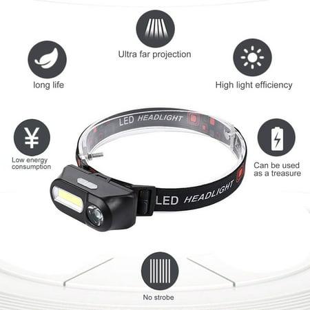 Outdoor Camping Portable Mini USB Charging COB LED Headlight Fishing Headlights - image 5 of 10