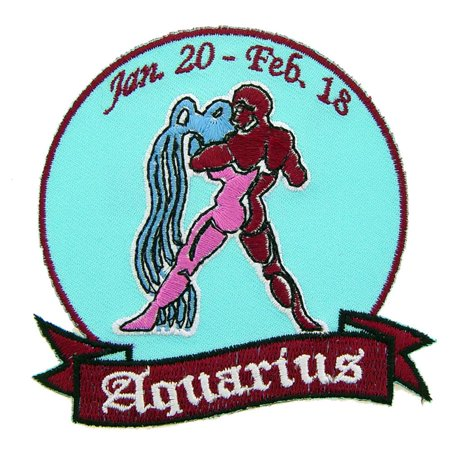 Aquarius Sign Patch 3