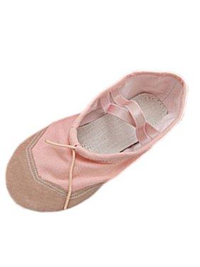 Unique Bargains Princess Size 8.5 Pink Soft Fabric Dancing Ballet Ladies' Shoes