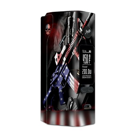 Skin Decal For Wismec Reuleaux Rx 2/3 Vape Mod Stickers / Ar Military Rifle America - Flag Rifle