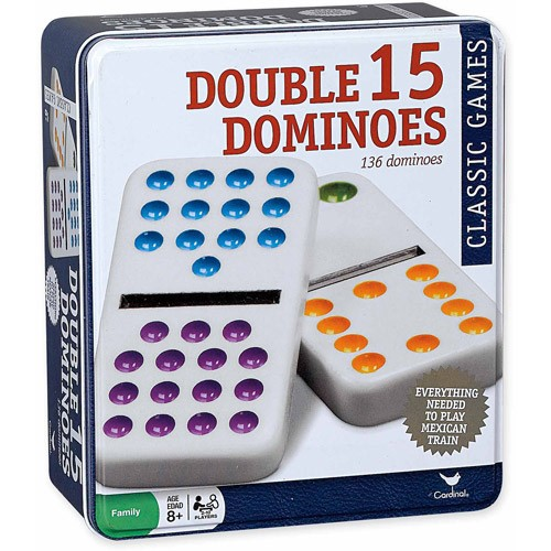 Double Fifteen Color-Dot Dominoes