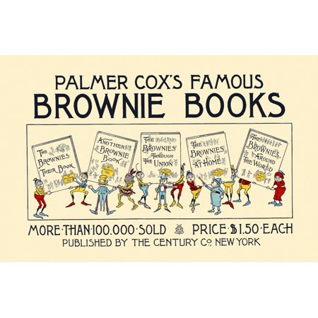 A Group Of Brownies Are Holding Up Copies Of The Brownies Books Poster Print By  Geo R Halm