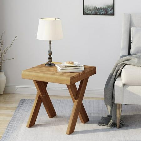 Noble House Indoor Farmhouse Acacia Wood Side Table, (Best Teak Furniture Manufacturer)
