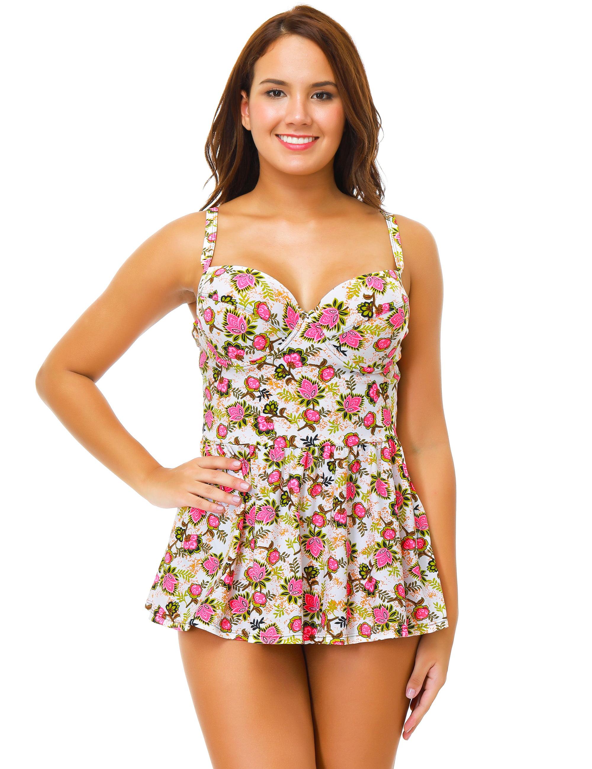 0d094a2f42 SENFLOCO - Senfloco Women Plus Size Swimwear 2Pcs Tankini Set Swimsuit  Vintage Floral Cute Bathing Suit Bra Top Beach Wear for Beach Pool Parties,  ...