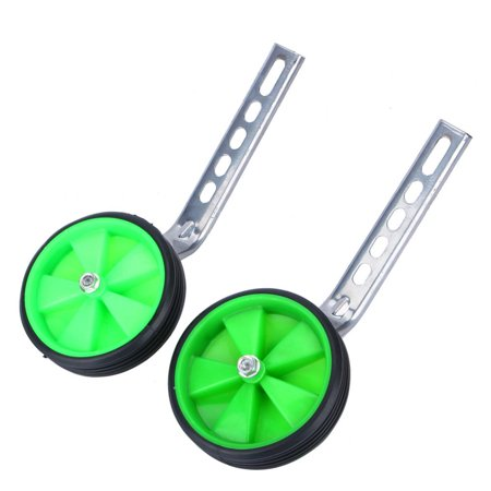 Qiilu Training Wheels Heavy Duty Rear Wheel Bicycle Stabilizers Mounted Kit Compatible for Bikes of 12 14 16 18 20 Inch, 1 Pair-Stronger Version, -