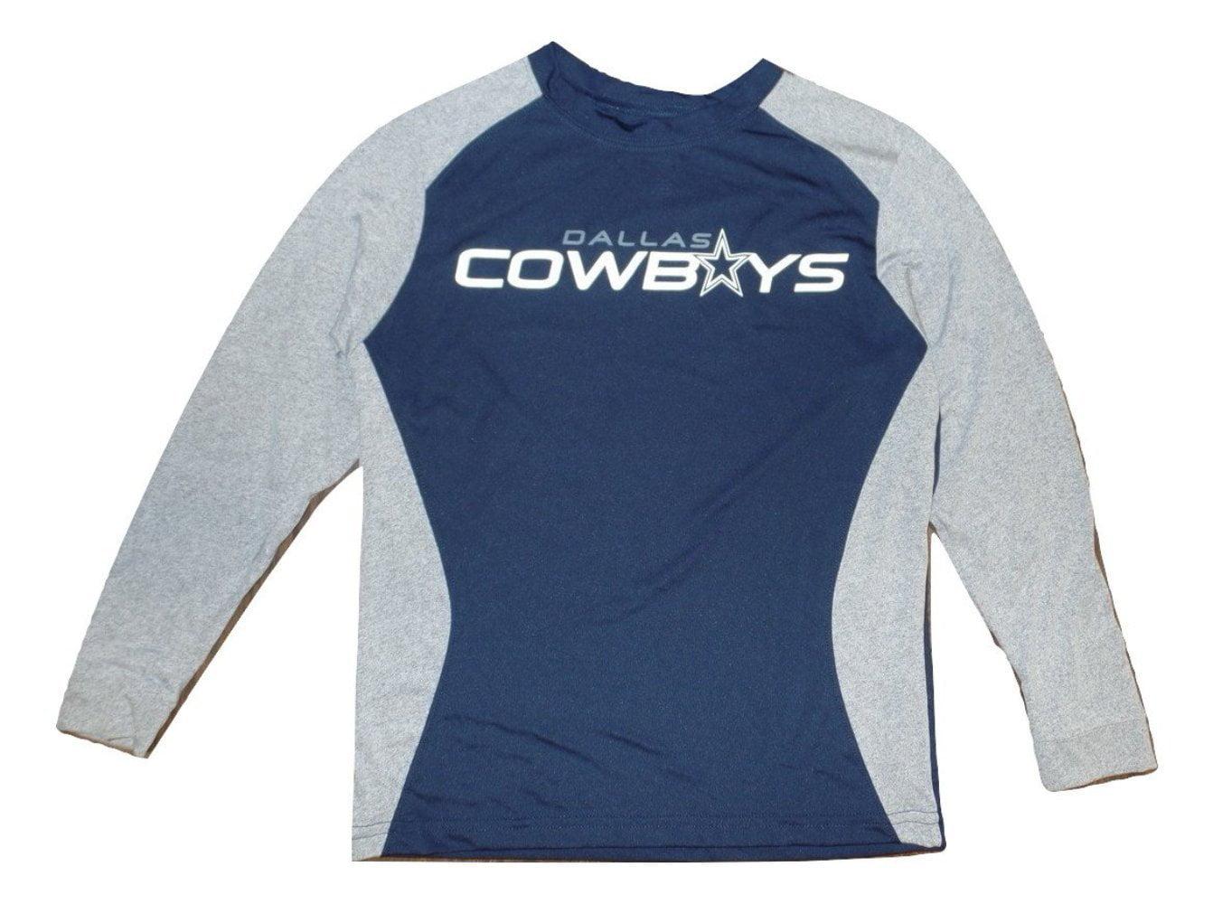 Dallas Cowboys Youth Dash Dri-Fit Performance Long Sleeve Navy T-Shirt by Dallas Cowboys Merchandise