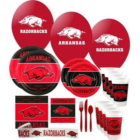 Arkansas Razorbacks Party Supplies Pack #3 - Party City Arkansas