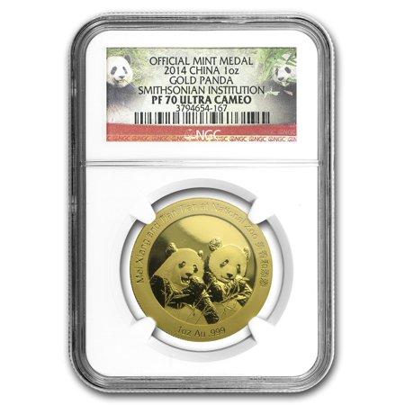 2014 China 1 oz Gold Panda Proof PF-70 NGC (Smithsonian Zoo)