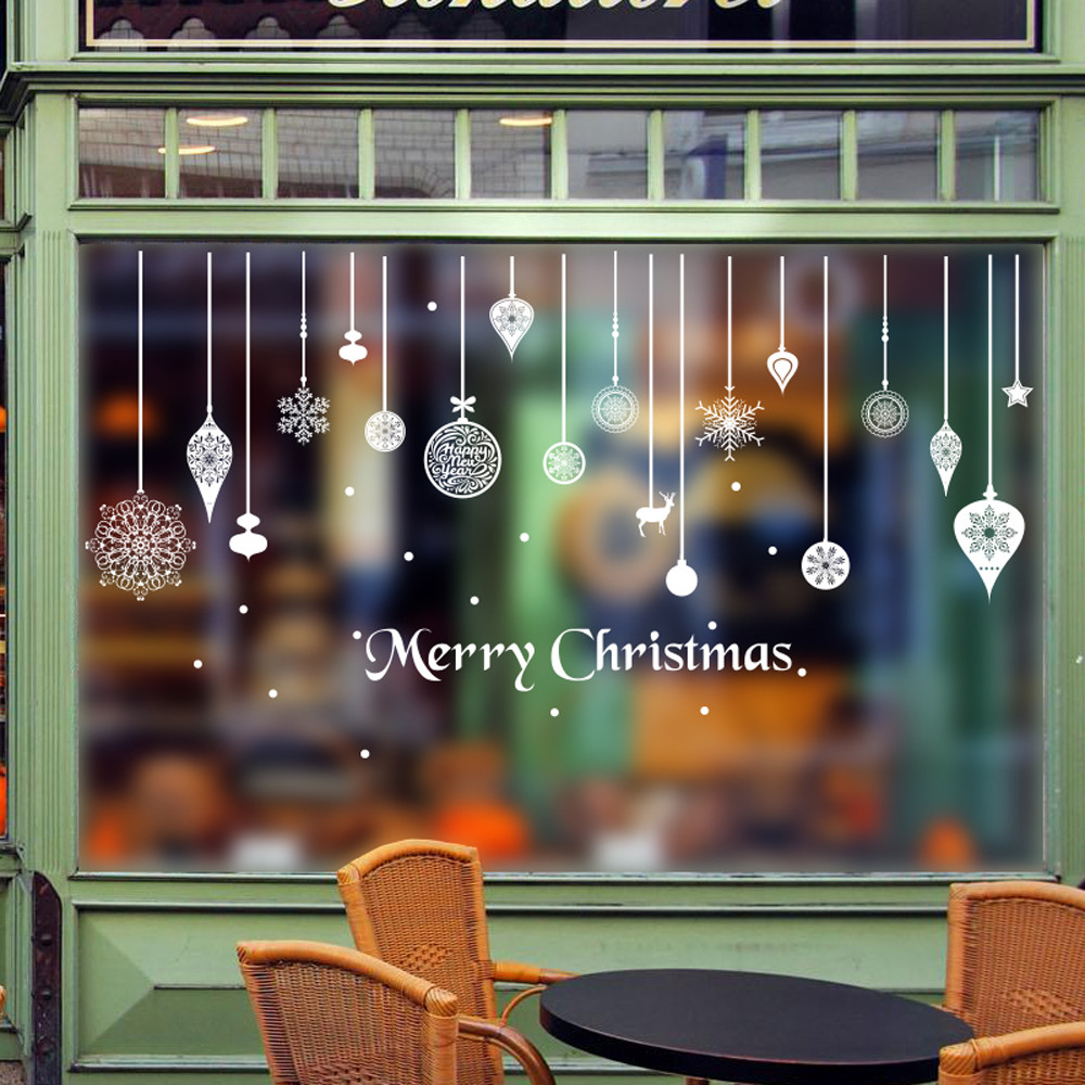 Christmas Wall Stickers Window Glass Door Decoration Wall Sticker