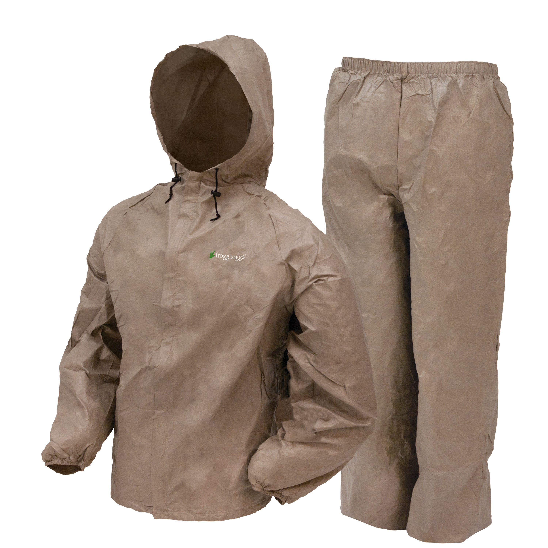 Frogg Toggs Ultra-Lite2 Waterproof Breathable Rain Suit, Men's, Khaki, Size Small