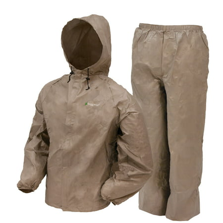 Complete Rainsuit (Frogg Toggs Ultra-Lite2 Waterproof Breathable Rain Suit, Men's, Khaki, Size Small)