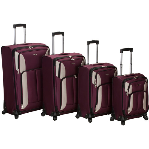 Rockland Luggage Quad 4-Piece Spinner Luggage Set