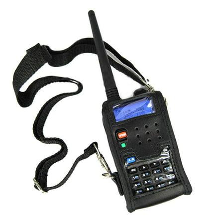 Walkie Talkie Leather Soft Case Cover For BAOFENG UV 5R Portable Ham Radio UV-5R UV-5RA Plus UV-5RE Plus UV-5RB RONSON UV-8R