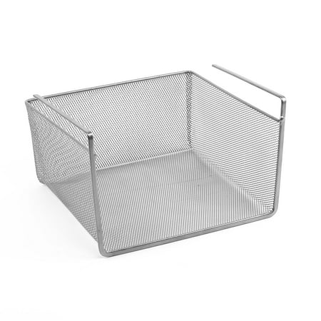 Design Ideas Undershelf Basket Mesh Small Silver](Chinese Auction Basket Ideas)