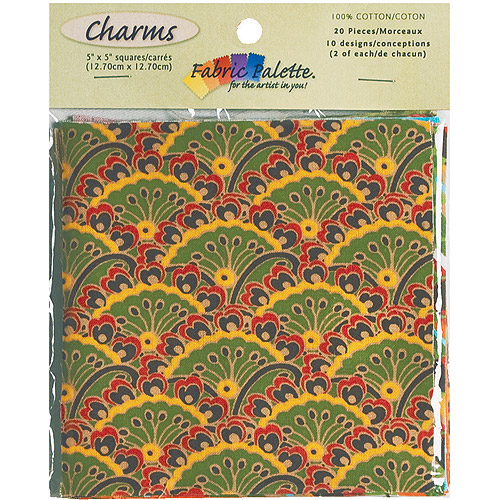 "Fabric Palette Charm Pack, 5"" x 5"" Cuts, 100% Cotton, 20/pkg"