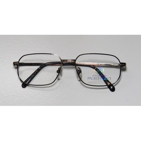 45a339b00af New Paolo Gucci 8112 Mens Womens Designer Full-Rim Gunmetal   Gold 21k Gold  Plated Fashionable Male Hip Frame Demo Lenses 54-16-140 Eyeglasses Eye  Glasses ...