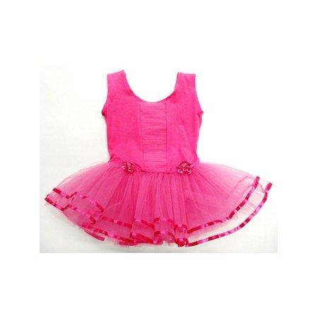 Hot Pink Ruffle - Front Tutu Ballet Dress Girls Xl