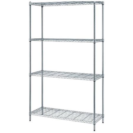 1 Box Wire Shelving Unit, 30 x 18 x 72 in.