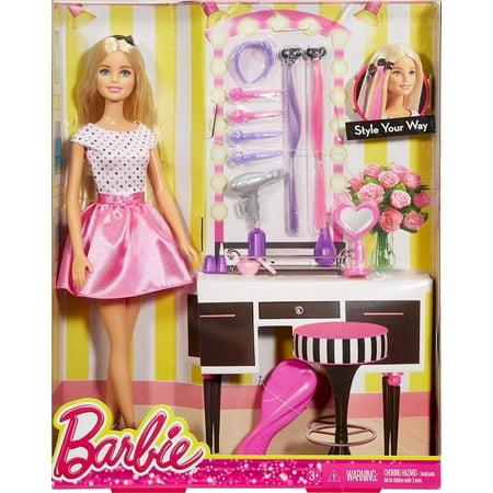 Barbie Barbie Doll & Hair Accessories Playset