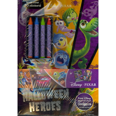 Disney Pixar Halloween 2-Pack Color and Activity Books with 4 Crayons - Halloween Printable Art Activities