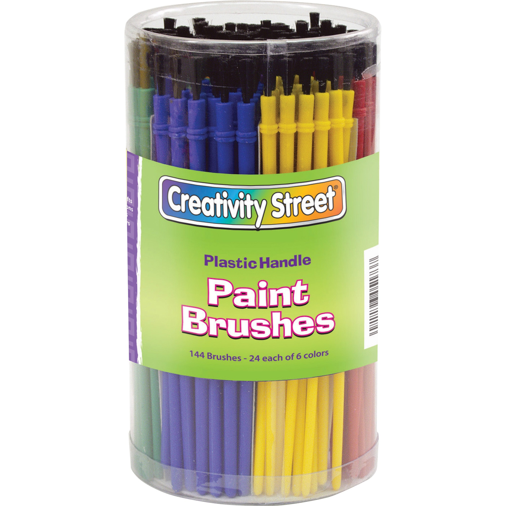Creativity Street Canister of Paint Brushes, Assorted, 144 / Set (Quantity)