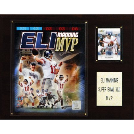 C Collectables Nfl 12X15 Eli Manning Super Bowl Xlii Mvp New York Giants Player Plaque