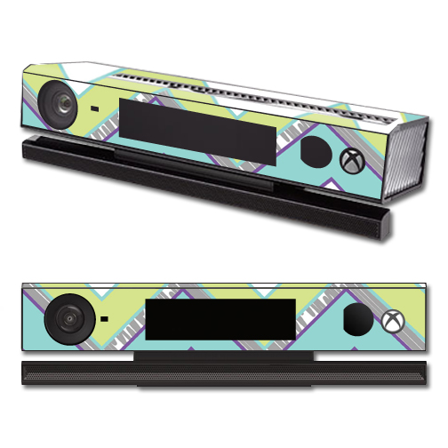 Mightyskins Protective Vinyl Skin Decal Cover for Microsoft Xbox One Kinect wrap sticker skins Pastel Chevron