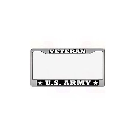 Us Army Veteran Auto License Plate Chrome Frame Quot Made In
