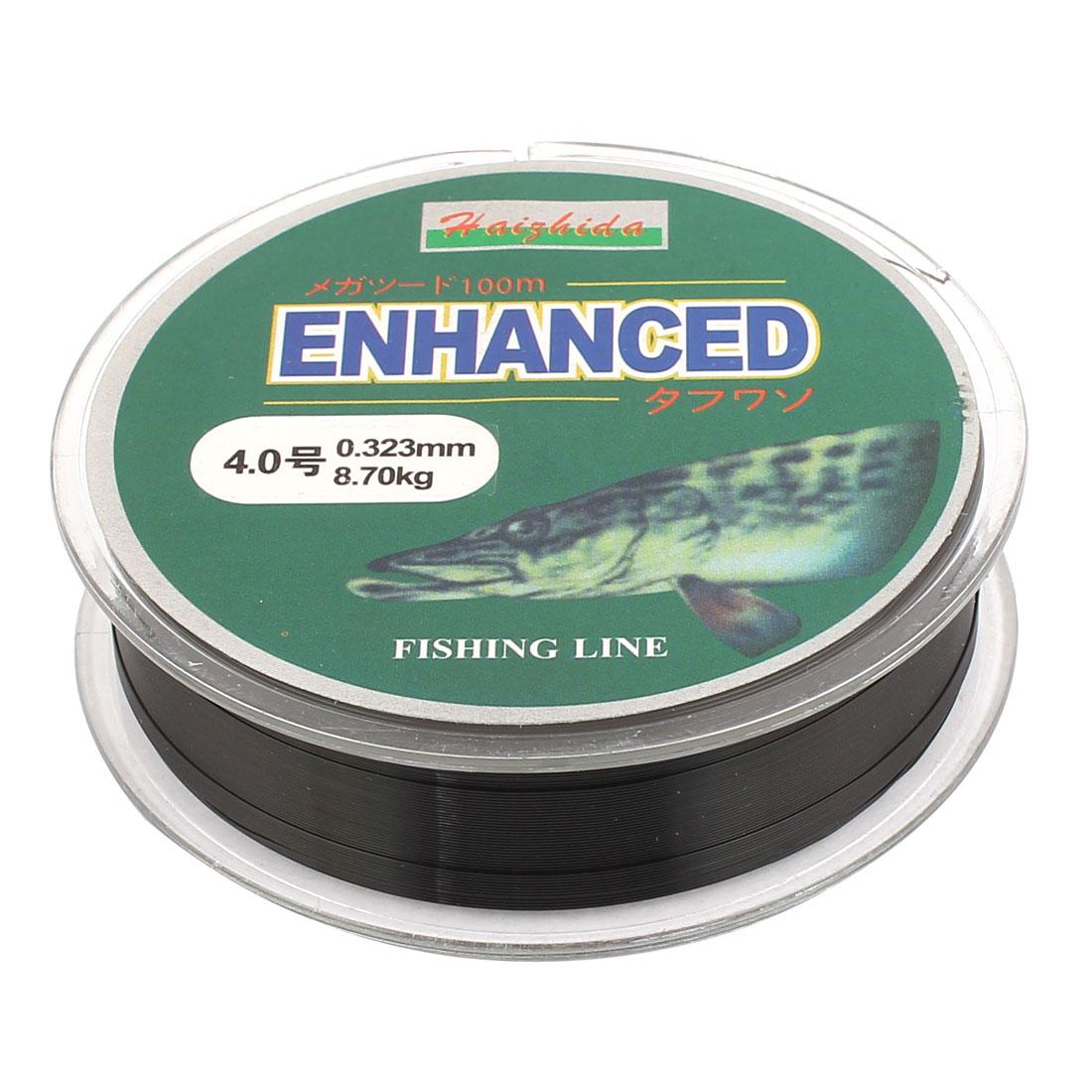Unique Bargains 4# Black 0.323mm Dia 8.7Kg Abrasion Resistance Fishing Line Spool 100M - image 1 of 1