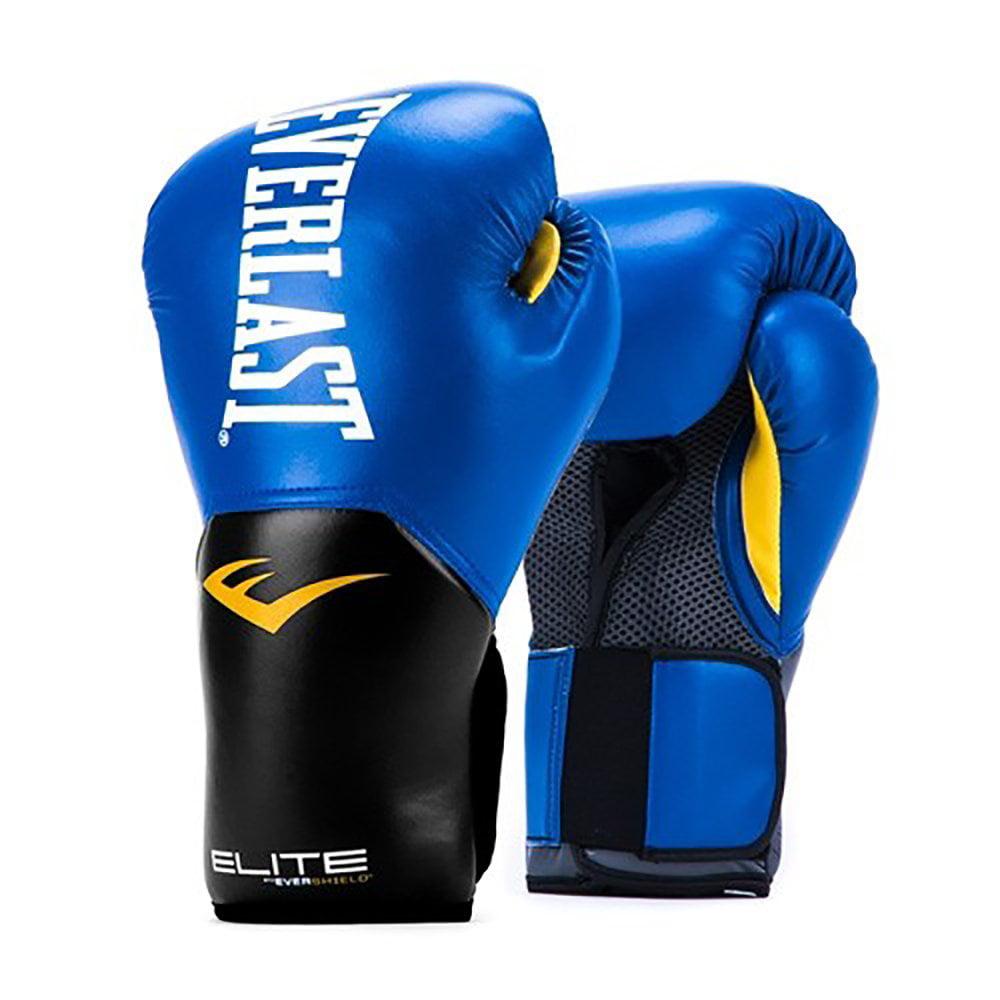 Everlast Elite Pro Style Leather Training Boxing Gloves Size 16 Ounces, Blue