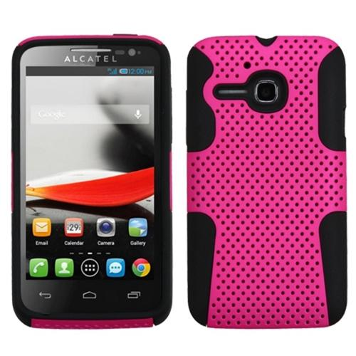 Insten Hot Pink/Black Astronoot Phone Protector Case Cover For ALCATEL One Touch Evolve 5020T