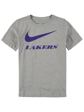 f868e1646 Product Image Los Angeles Lakers Nike Youth Swoosh Team Performance T-Shirt  - Heathered Charcoal