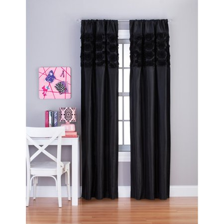 Your Zone Rosette Window Girls Bedroom Curtains - Walmart.com