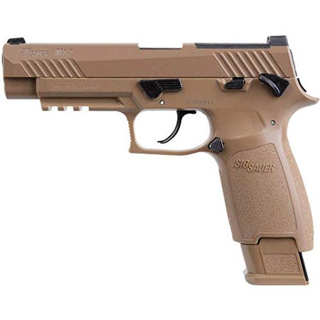 Sig Sauer Airguns AIRM17177 P320 M17 ASP Air Pistol Double CO2 .177 Pellet 20 rd Coyote Polymer Frame Coyote Stainless Steel PVD