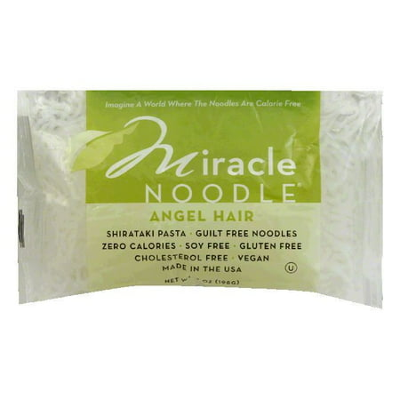 Miracle Noodle Angel Hair Noodle, 7 OZ (Pack of 6) Angel Hair Noodle Attachment