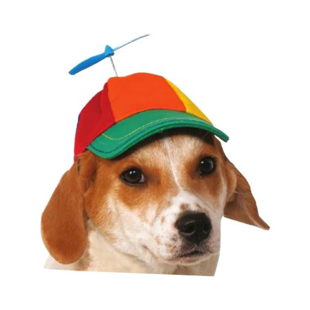 Multicolored Propeller Hat Headpiece Dog Costume Accessory - Burlesque Headpiece
