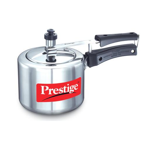 Prestige Cookers Nakshatra Plus 2.11-Quart Flat Base Aluminum Pressure Cooker