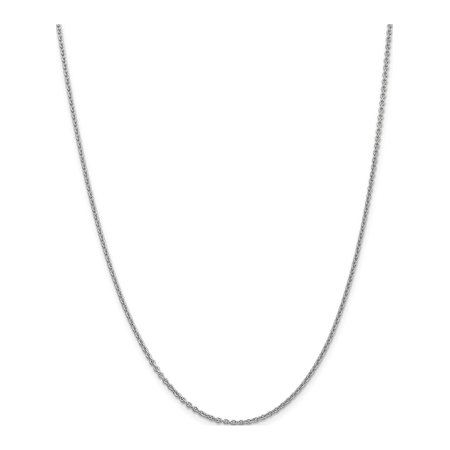 Leslie 14K White Gold 1.8 mm Round Cable - image 5 of 5