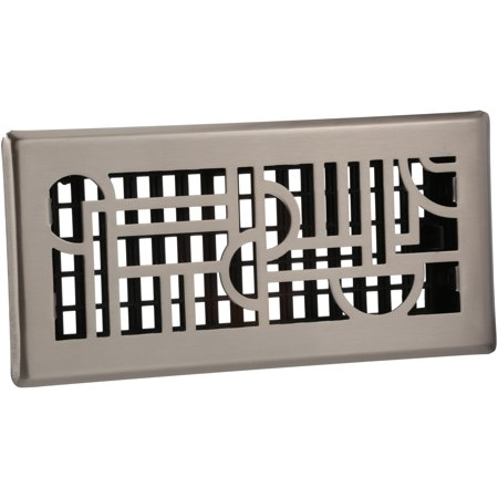 Decor Grates® Art Deco™ Steel Plated Nickel 4
