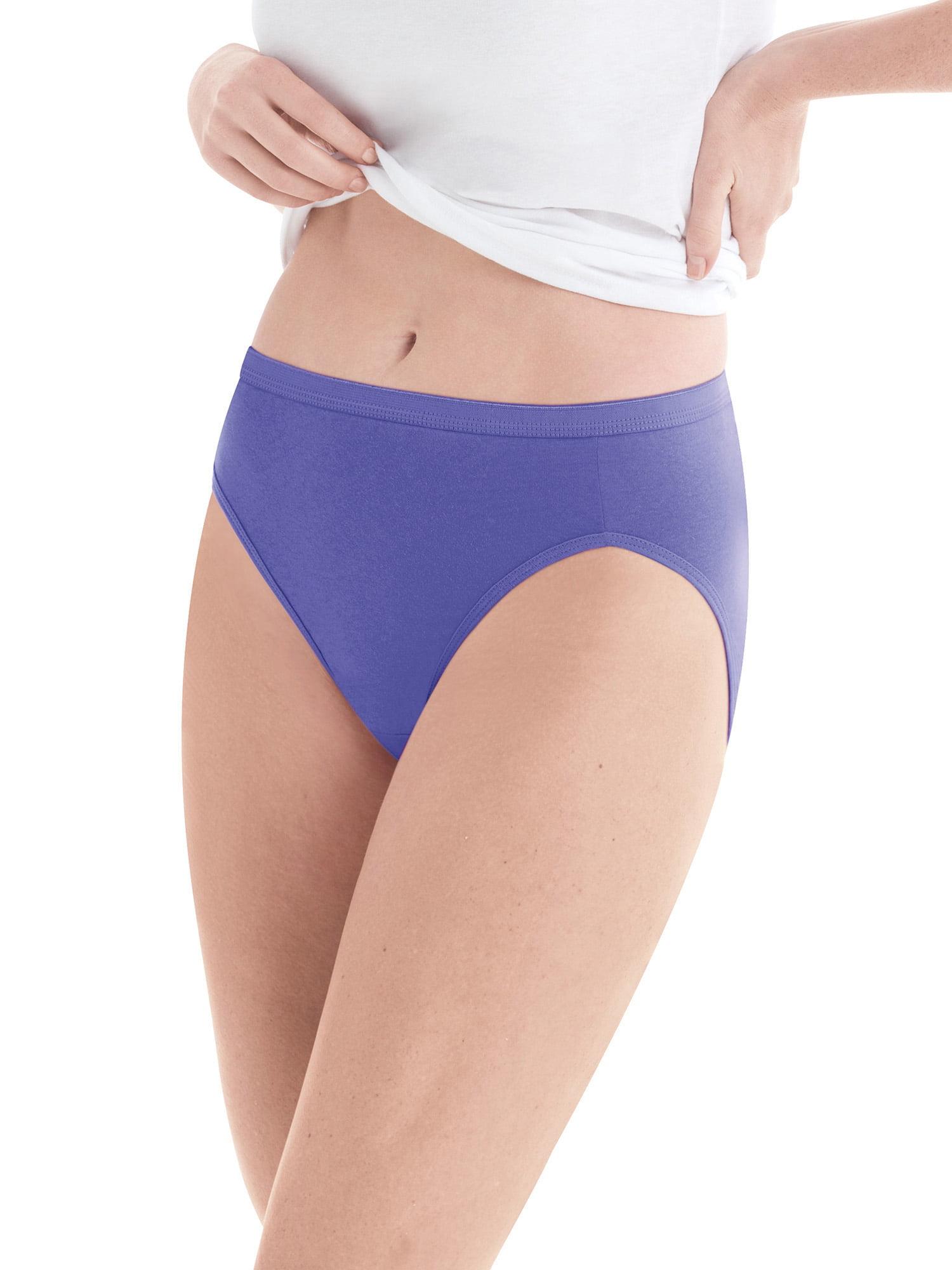 Hanes Womens 10 Pack Cotton Hi Cut Panty