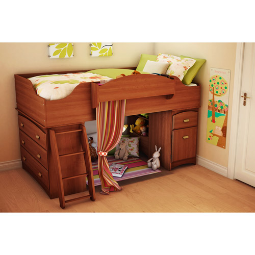 South Shore Imagine Twin Loft Bed, Morgan Cherry