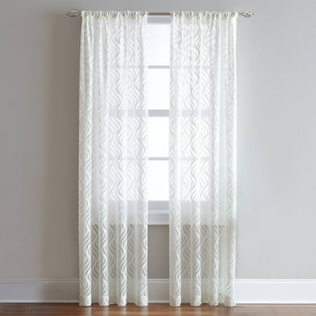 Lyric Rod Pocket Sheer Curtain Panel ()