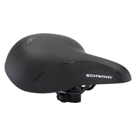 Schwinn Commute Pathway Gel Bicycle Saddle, black