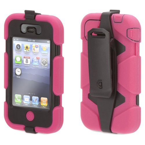 Griffin Survivor Case for iPhone 4, Pink and Blue